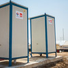NRC is setting up toilets in Kandala camp with support from SIDA.