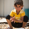 Areej (4) has recently arrived to Azraq refugee camp in Jordan from Syria. Photo: Tiril Skarstein, NRC
