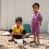Areej (4) and her little brother Abdulrahman (2) have recently arrived to Azraq refugee camp in Jordan from Syria. Photo: Tiril Skarstein, NRC