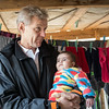 """Jan Egeland holding 6-month-old Hadil, who was born in Lebanon. Her Syrian parents are not able to register the baby in Lebanon and provide the baby with a legal status. <br /> <br /> """"We haven't completed our daughter's birth registration because we left all of our documents in Syria when we fled. I need to secure my daughter's future,"""" Ragheb, Hadil's father, said.<br /> <br /> """"How long will we keep living this way? I cannot take my daughter to a clinic and I cannot move around because I don't have documents,"""" he added.<br />  <br /> Egeland visited Syrian refugees in the Bekaa Valley in Lebanon on February 25, 2015.  <br /> <br /> Photo: NRC/Tiril Skarstein"""