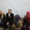 """Jan Egeland in a focus group discussion with Syrian refugees in the informal tented settlement Arab Rajab in Al Marj in Bekaa. <br /> <br /> """"We don't have homes to go back to in Syria, everything is destroyed. We only hope not to live in fear in Lebanon,"""" Israa (40) from Damascus said.<br /> <br /> Egeland visited Syrian refugees in the Bekaa Valley in Lebanon on February 25, 2015.  <br /> <br /> Photo: NRC/Rayane Abou Jaoude"""