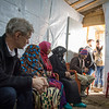 """Jan Egeland in a focus group discussion with Syrian refugees in the informal tented settlement Arab Rajab in Al Marj in Bekaa. <br /> <br /> """"We don't have homes to go back to in Syria, everything is destroyed. We only hope not to live in fear in Lebanon,"""" Israa (40) from Damascus said.<br /> <br /> Egeland visited Syrian refugees in the Bekaa Valley in Lebanon on February 25, 2015. <br /> <br /> Photo: NRC/Tiril Skarstein"""