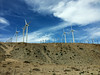 Wind turbines on a hilltop generate electricity for California