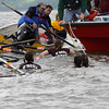 Members of the West Point fire Dept. , Middle Hope fire Dept., Dutchess County Sheriff, Newburgh fire rescue, and Newburgh rowing club, pull nine girls from the O'Neil racing team to safety  from the Hudson river on Sunday after their racing boat sank due to heavy swells in the Hudson river. The members of the team were evaluated for hyperthermia upon arriving to shore by paramedics called to the scene. No injury's reported