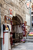 A shop selling paintings and crafts on the streets of old town Dubrovnik, Croatia.