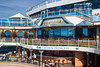 An outdoor deck on the cruise ship Crown Princess.