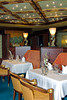 The upscale Pinnacle Grill restaurant on the Holland America cruise ship Zaandam