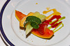 A fresh fruit appetizer plate on the Holland America cruise ship Zuiderdam.