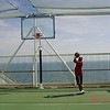 basketball located on the top deck