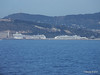 Distant MSC ORCHESTRA NORWEGIAN SPIRIT on approaching Barcelona PDM 06-04-2014 09-22-16