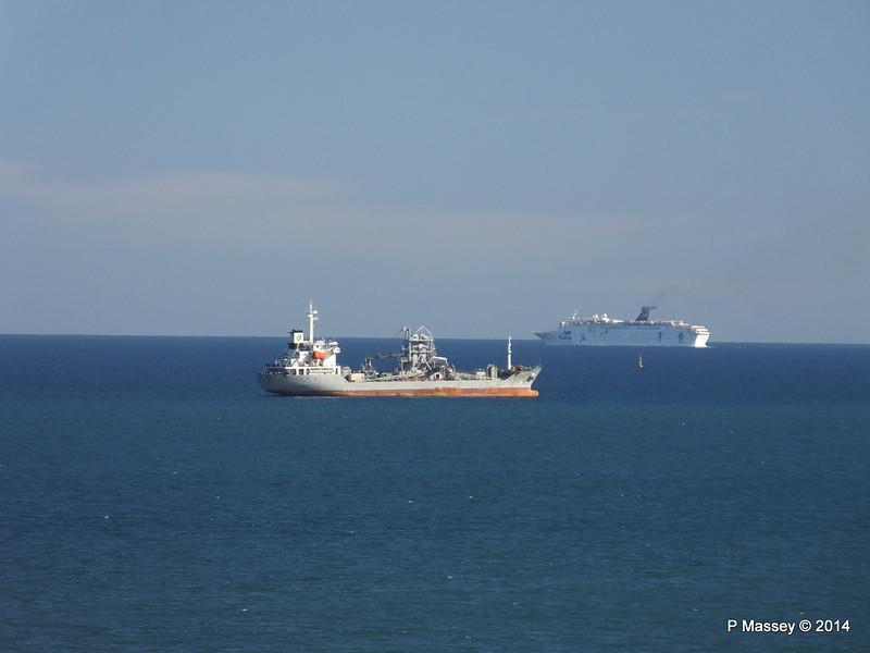 Distant GRAND HOLIDAY as she departs Barcelona PDM 06-04-2014 15-37-45