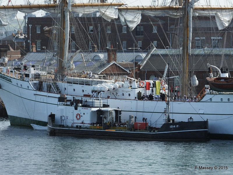 Mexican Navy Training Ship CUAUHTEMOC Fuel Lighter 1514F Portsmouth PDM 29-06-2015 08-06-11