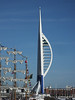 Partially Painted Blue Spinnaker Tower Portsmouth PDM 29-06-2015 17-43-01