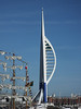 Partially Painted Blue Spinnaker Tower Portsmouth PDM 29-06-2015 17-43-00