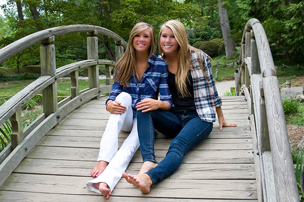 Outdoor Portrait of Two Girls