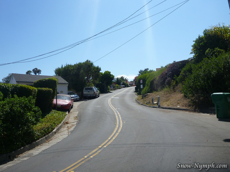 Miramonte Drive from the beach side . . . I didn't think I would ever do it, now I like it!