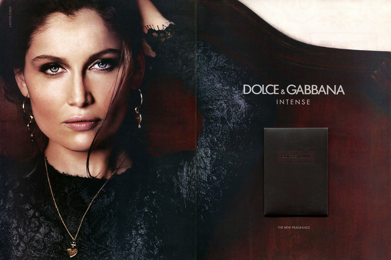 DOLCE & GABBANA pour Femme Intense 2013 United Arab Emirates spread with scented card 'The new fragrance'