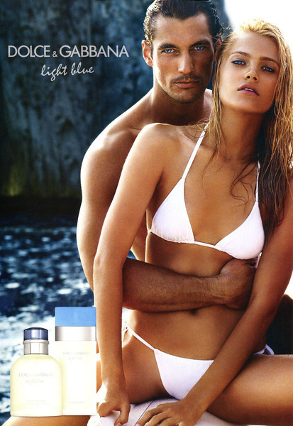 DOLCE & GABBANA Light Blue + Light Blue pour Homme 2011 Andorra MODELS: David Gandy & Anna Jagodzinska, PHOTO: Mario Testino, LOCATION: Capri, Italy