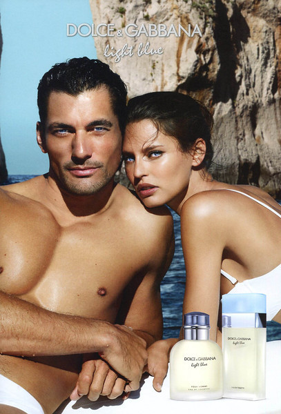 DOLCE & DABBANA Light Blue Eau de Toilette + Light Blue pour Homme 2013 Andorra <br /> MODELS: David Gandy & Bianca Balti, PHOTO: Mario Testino, LOCATION: Capri, Italy
