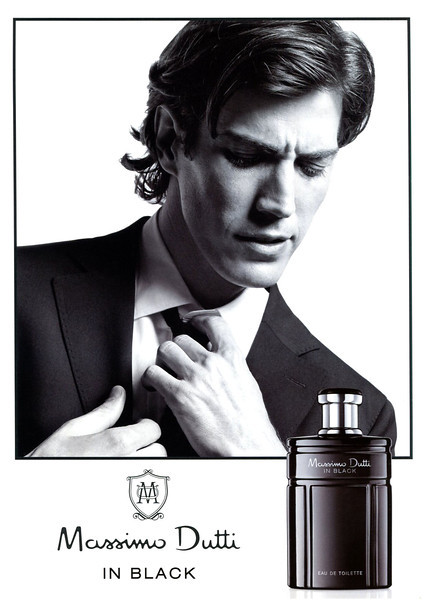 MASSMO DUTTI In Black 2012 Spain  MODEL: Oriol Elcacho (Spain)