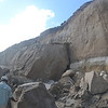 Collapse of the cliffs at Zeelandia. Photo Credit: Nathaniel Miller, DCNA