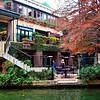 a VIEW OF RIVERWALK PARK IN SAN ANTONIO, TEXAS