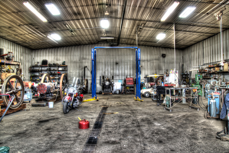Oct 29 - The Shop<br /> <br /> This is an hdr image of a friend's workshop.  I love the depth and colors and of course everything to look at.