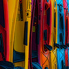 Sept 19 - Colors Stacked Against a Wall<br /> <br /> I found these kayaks stacked against an outside wall at an outdoor sporting goods store.  <br /> <br /> Thanks for your comments on my cabbage image I posted yesterday!!