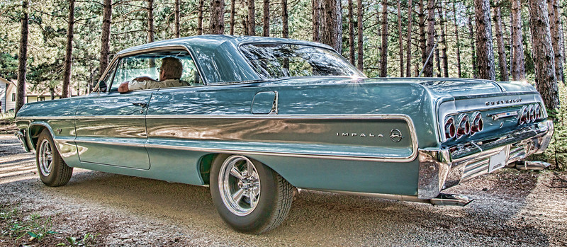 Oct 21 - Oh That Car<br /> <br /> My brother in law's sweet 1964 Chevy Impala which he restored over a 9 year span!  It is beautiful!  <br /> <br /> Thanks so much for your comments over this little series of mine.  I have more that I could post, but I won't saturate the daily comunity with all of them!   Thanks again even though I haven't been able to return your comments!