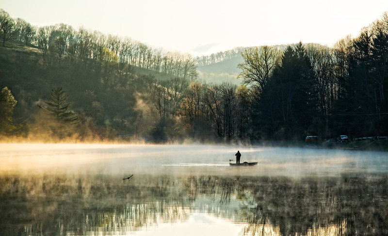 June 2 - Fishing in the Morning Fog<br /> <br /> I took this image on my way to work one morning at a nearby lake.<br /> <br /> Thanks so much for your comments on my Meadow image I posted yesterday!