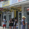 JIM VAIKNORAS/Staff photo Beach goers at  Salisbury Beach Center shop for luch on a hot July Afternoon.
