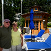 JIM VAIKNORAS/Staff photo  Mickey and Lynda Koplove at their gazebo on Pleasent Valley Road in Amesbury.