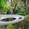 March 10, 2014 -- One of the Garden Bridges and its reflection at Magnolia Plantation, SC.  http://franks-focus.smugmug.com