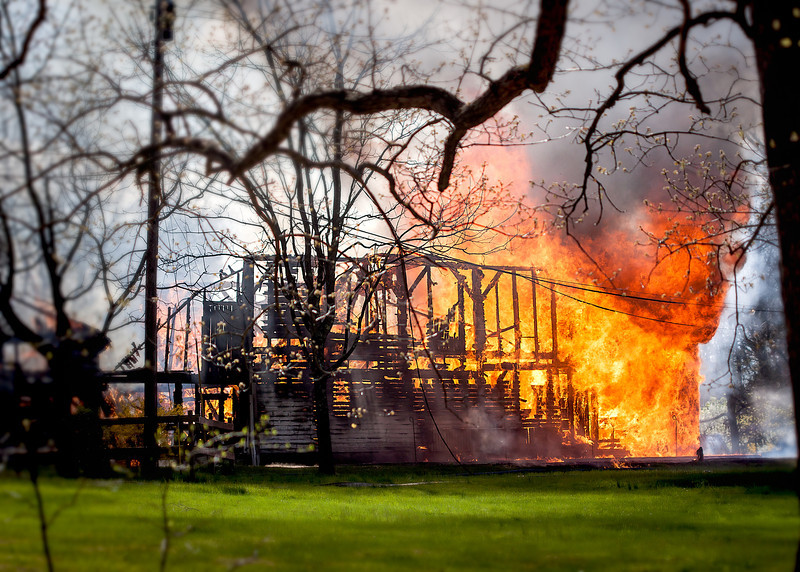April 20, 2013 - The barn fire that was across the street from my house.  It was sad to see this barn go, but it was an incredible sight to see.