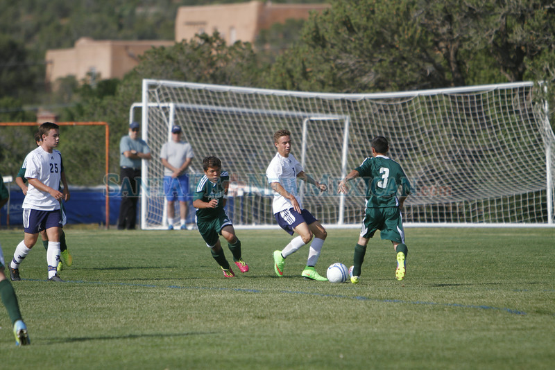 The first half of the Santa Fe Prep vs Pojoaque Valley High School boys soccer game at Prep on Tuesday, September 2, 2014. Luis Sanchez Saturno/The New Mexican