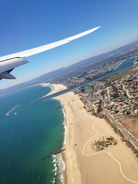 2014-07-11<br /> Departing LA<br /> A shot out the window of our 747 just after it took off from LAX, on a lovely day in Southern CA.