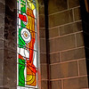 Stained glass reflection, Christ Church Cathedral, Victoria, BC