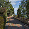 Seaside walkway in the Public Gardens of Taormina, Sicily