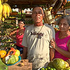 Tropical fruit stand near Trinidad, Cuba lets customers sample the fruits before buying