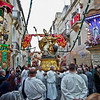 Saint Publius, icon of the patron saint of the city pf Floriana, is carried through the streets during the community's annual feast day
