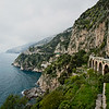 Roads along Italy's Amalfi Coast were literally carved out of the mountain, and in many instances bridges like this one were constructed to span gaps