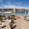 Pocket beach in Paceville, which is party central on the island of Malta