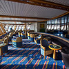 Top deck of Hurtigruten's MS Richard With, a working ship that carries mail, supplies, and cruise passengers