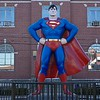 Giant Superman statue stands at the center of town in Metropolis, Illinois