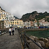 The town of Amalfi, tucked between aquamarine sea and dramatic mountains, is one of the most popular tourist destinations in Italy