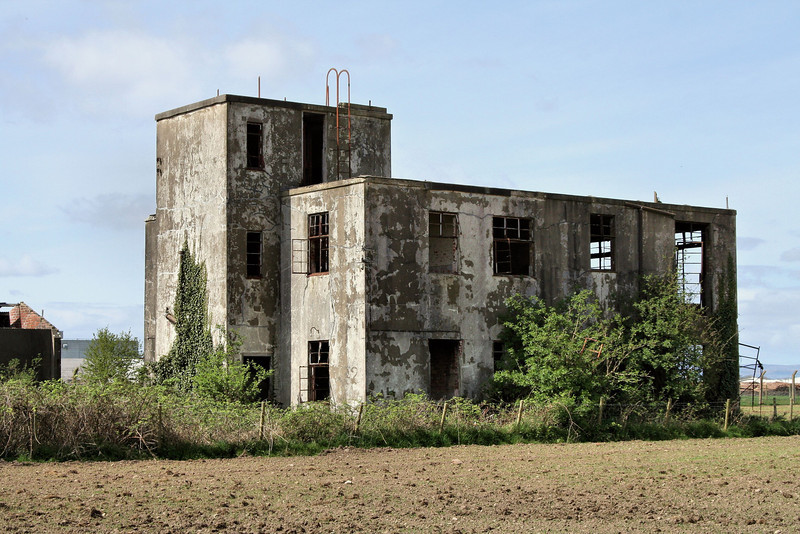 The old wartime control tower at Limavady airfield
