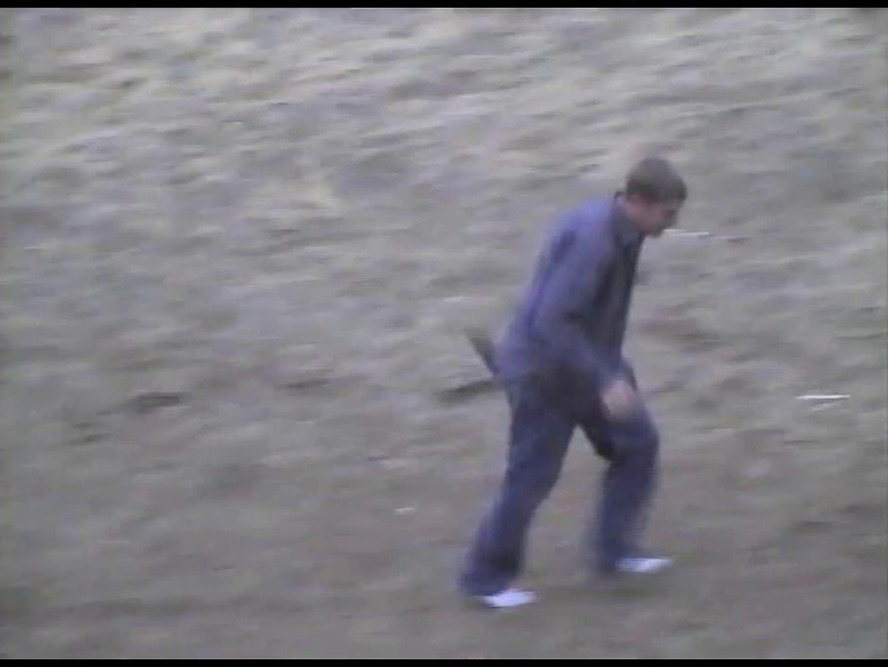 Video Archive Clip 2001 (Mar) - Yaden, Dan & Julie - Horseplay on Storm Mountain - Jake (age 16), Alex (age 10) - Storm Mountain home - Drake, CO - Original VHS Series (1 min)