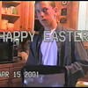 Video Archive Clip 2001 (April 15) - Yaden, Dan & Julie (age 47) - George the Pit Bull joins the Easter Egg Hunt on Storm Mountain - Jake (age 16), Steven (age 12), Alex (age 11) - Storm Mountain home - Drake, CO - Original VHS Series (7 min 57 sec)