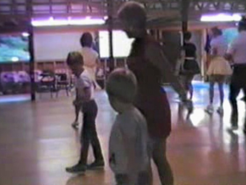 Video Archive Clip 1987 (Aug) - Yaden Clogging - Dan & Julie (age 33) dance an instrumental clogging routine with Danny (age 9) and Matthew (age 6) - Circle 8 Ranch Clogging Workshop - Cle Elum, WA (1 min 22 sec)