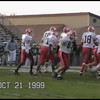 Video Archive Clip 1999 (Oct) - Yaden, Jacob B. - Age 15 - Jacob (#55, white/orange) plays JV football for Mansfield Senior High School - Mansfield Sr. Tygers vs Madison High Rams - Part 1 of 2 - Mansfield, OH - Original VHS Series (14 min 50 sec)